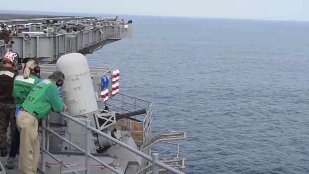 CIWS Shoot Aboard GHWB