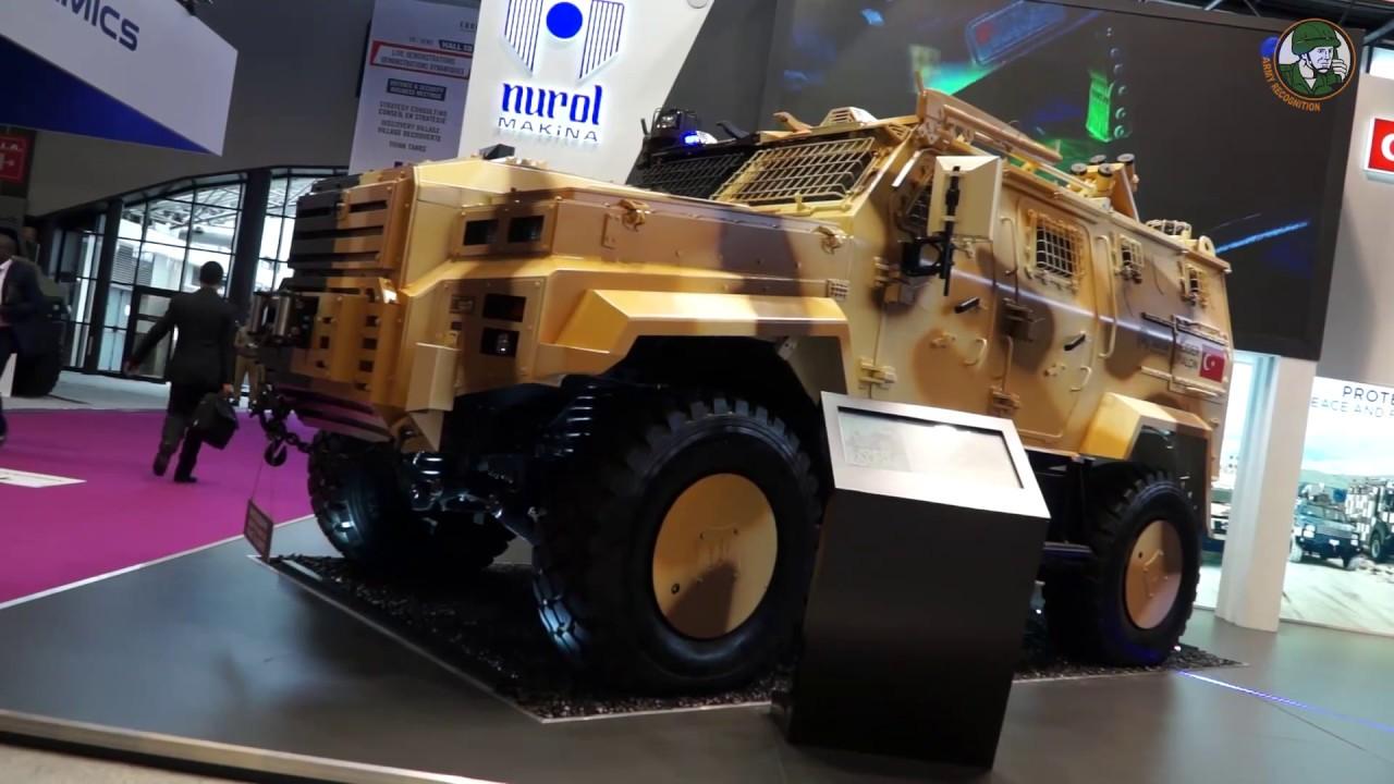 Eurosatory 2018 Nurol Makina from Turkey presents Ejder Yalcin and NMS 4x4 armored