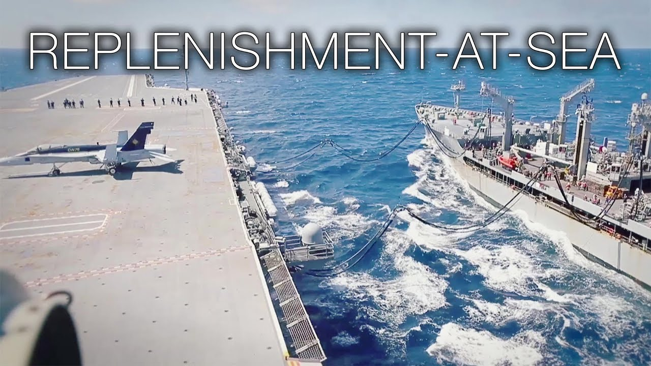 From Ship to Ship: Aircraft Carrier Replenishment-at-Sea