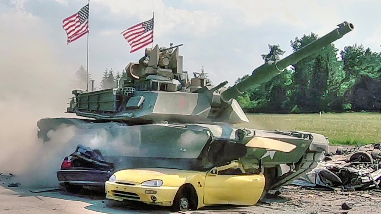 Strong Europe Tank Challenge 2018: Main Battle Tanks vs Cars