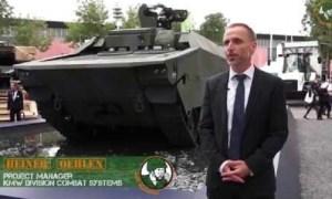 Rheinmetall KF41 IFV Command Post UGV Arnold Defense Fletcher 70mm rocket KMW amphibious armored