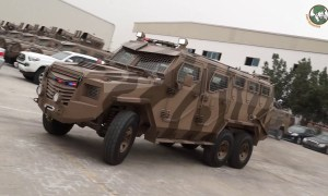 Titan-S 6x6 APC armored personnel carrier launched by INKAS Vehicles UAE