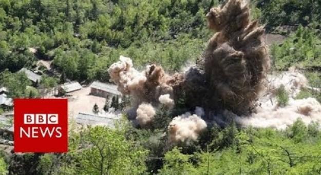 Video shows North Korea site 'destruction'