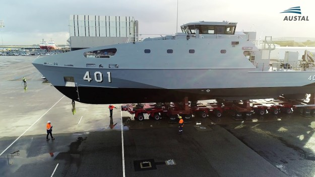 Austal Launches First Guardian Class Patrol Boat