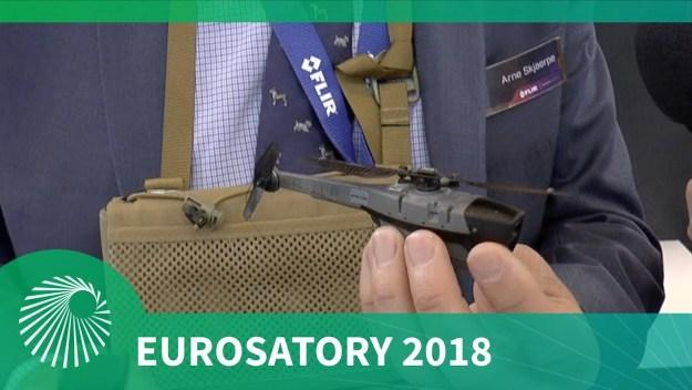 Eurosatory 2018: FLIR's Black Hornet 3 nano UAV