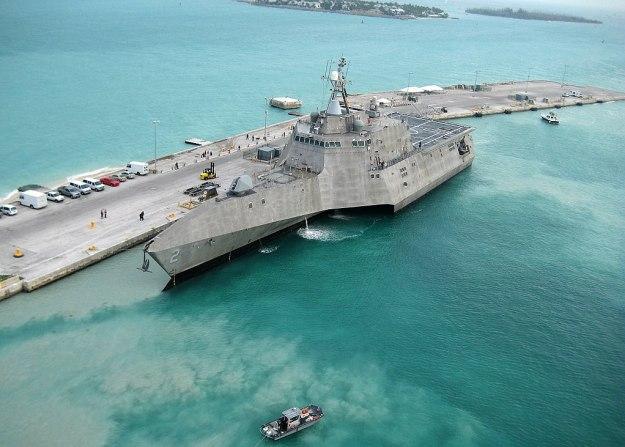 Littoral Combat Ship USS Montgomery – MK 110 MOD 0 57mm Gun & ALEX Decoy System Test