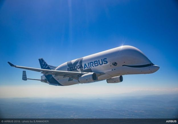 First flight of Airbus' BelugaXL