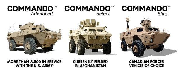 Textron Systems COMMANDO Family of Vehicles