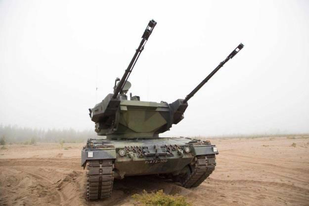 Finnish Leopard 2 Marksman Self-propelled Anti-aircraft Gun (SPAAG)