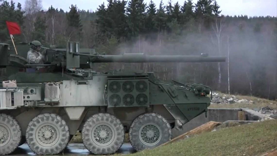 The Stryker 1128 Mobile Gun System