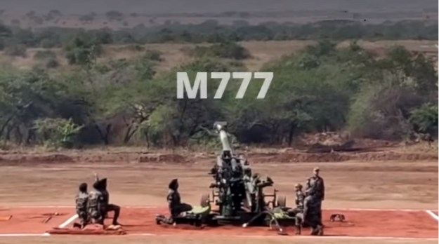 Indian Army M777 artillery systems