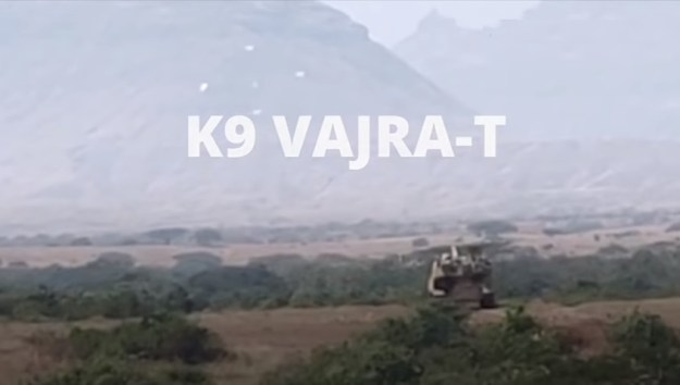 Indian Army K9 Vajra artillery systems