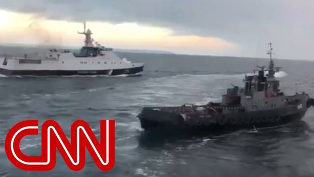 Ukraine says Russia opened fire on its naval vessels