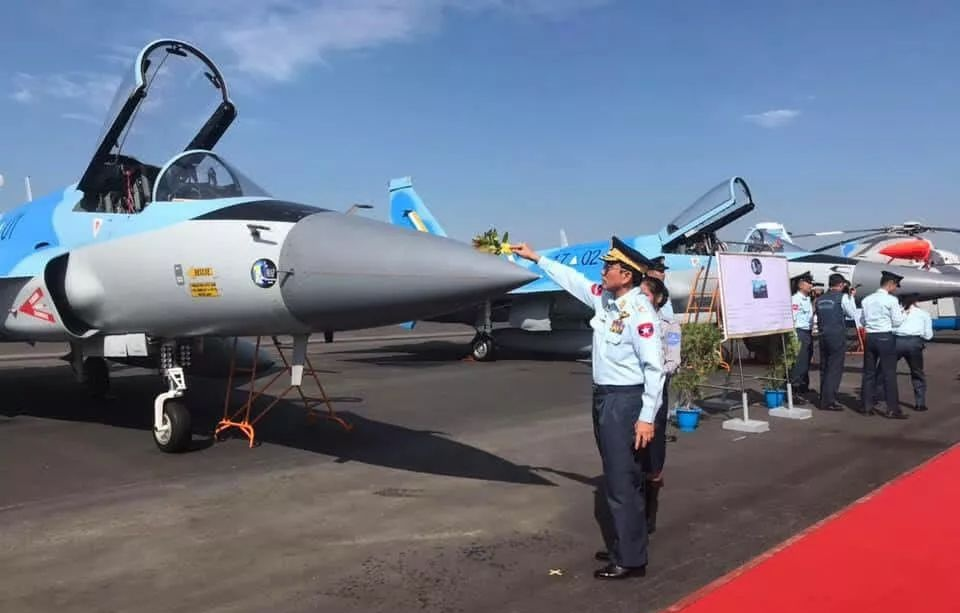 Myanmar officially inducts JF-17M Thunder fighter