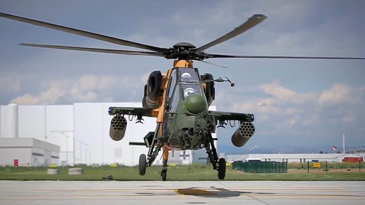 T129 ATAK Attack Helicopter