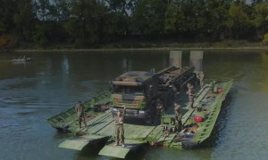 Upgraded PFM Tactical Floating Bridge by CNIM