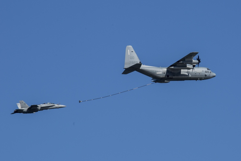 US Marine F/A-18D Hornet And KC-130 Collide During Aerial Refueling in Japan