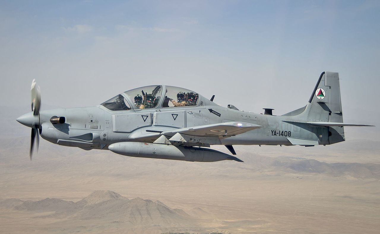 Afghan Air Force A-29 Super Tucano Counter-Insurgency Aircraft