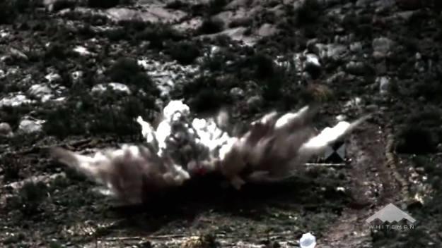 B-2 stealth bomber dropping GBU-57 MOP