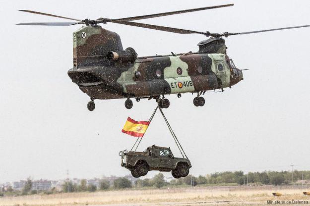 Spanish Army CH-47D Chinooks