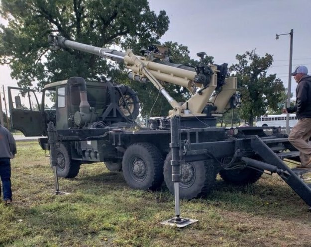 Brutus experimental 155 mm self propelled howitzer