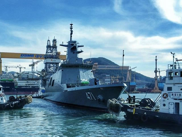 DSME launched HTMS Tachin DW3000F frigate for the Royal Thai Navy