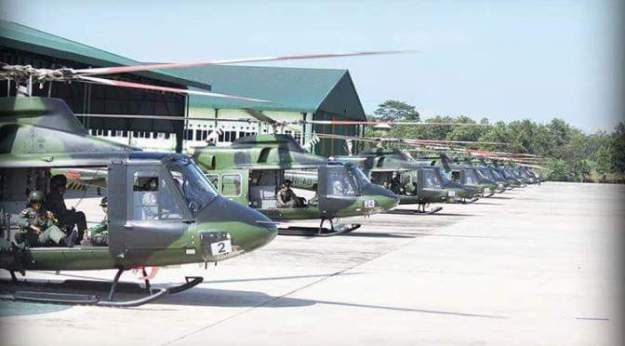 Indonesian Army Bell 412EPI utility helicopter