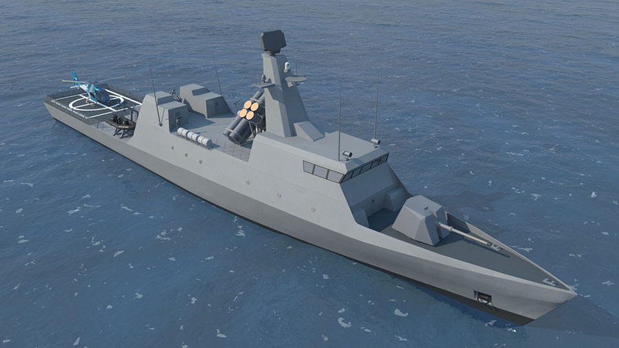Israel Shipyards SAAR S-72 Corvette