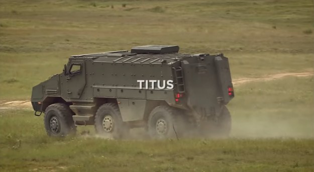 Nexter System Titus 6x6 wheeled armoured vehicle