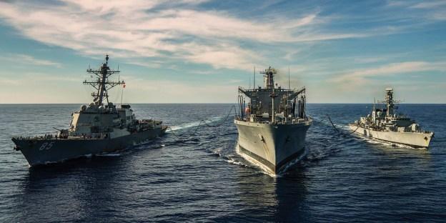 USS McCampbell and HMS Argyll