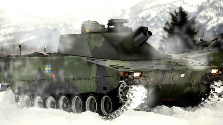 Sweden receives Grkpbv 90 self-propelled mortars