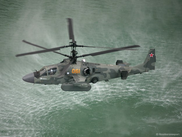 Ka-52 Scout/attack helicopter