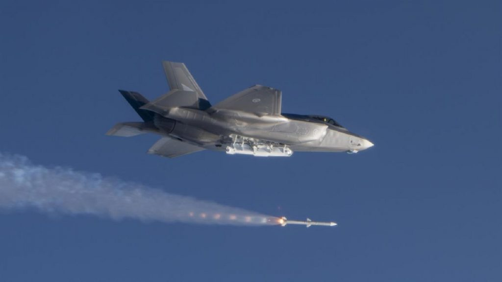 Royal Norwegian Air Force F-35 successfully completed first AIM-120 missile tests