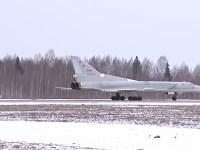 Russian Tu-22M3 bombers conduct patrol mission over Black Sea international waters