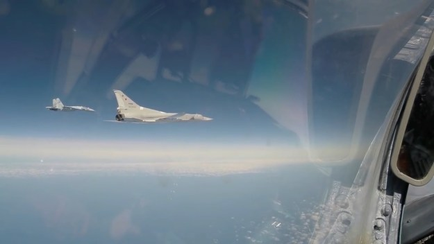 Russian Tu-22M3 bombers conduct patrol mission over Black Sea international waters