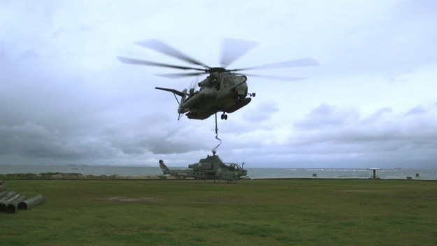 CH-53E Super Stallion Successfully Recovers AH-1Z Viper