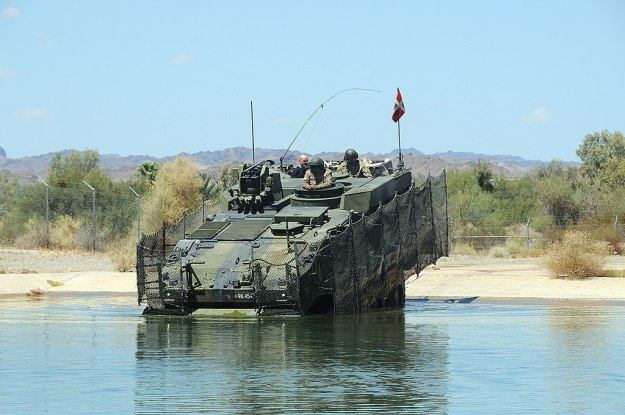 Royal Danish Army Piranha V Infantry Fighting Vehicle conducts testing at Yuma Proving Ground