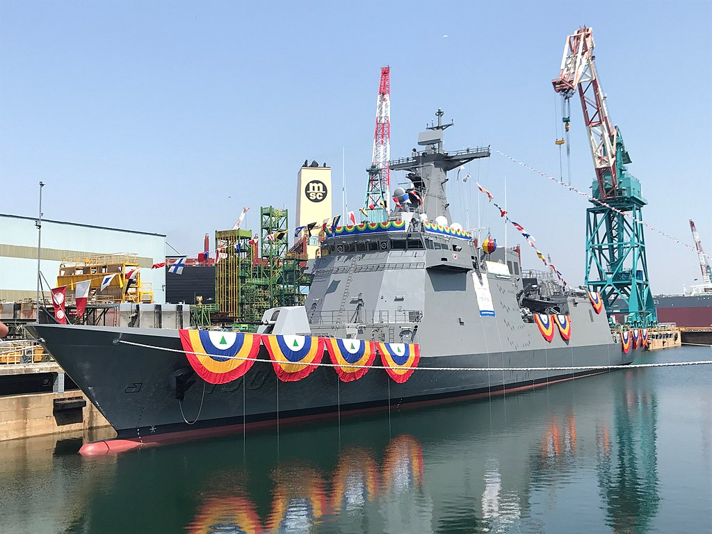 Hyundai Heavy Industries launches Philippine Navy José Rizal-class frigate