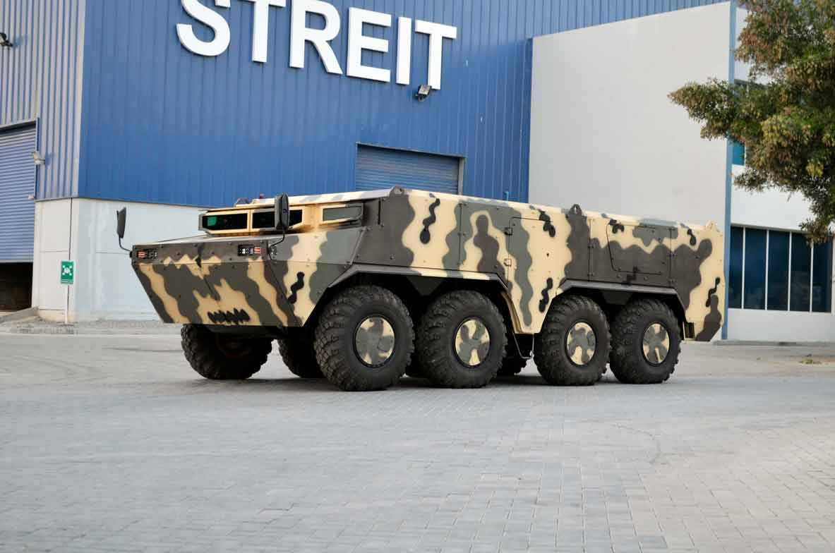 Streit Group Salamander AFSV 8x8 amphibious armored vehicle