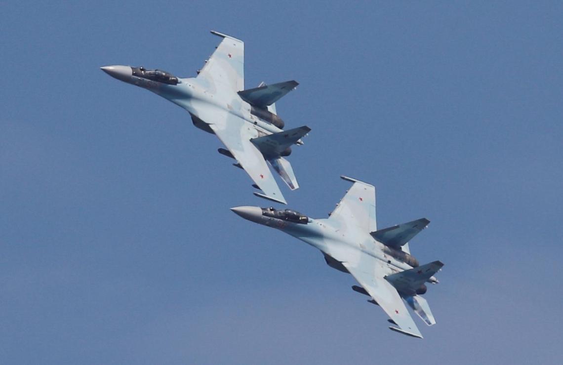 Sukhoi Su-35 Flanker-E multirole fighter jet