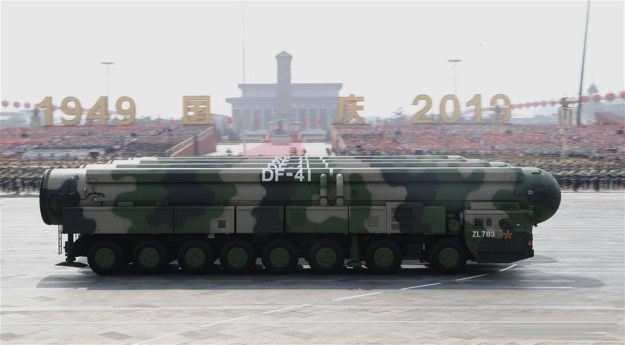 China unveils Dongfeng-41 Intercontinental ballistic missile (ICBM)