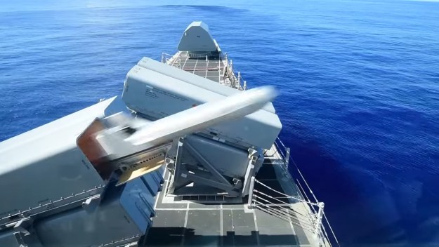 USS Gabrielle Giffords (LCS 10) Successfully Launches Naval Strike Missile (NSM)