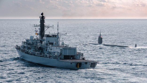 Royal Navy Experts Go On North Atlantic Sub Hunt