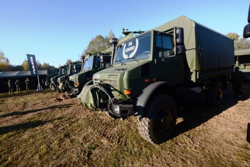 Lithuanian Armed Forces gets 110 new Unimog U5000 trucks