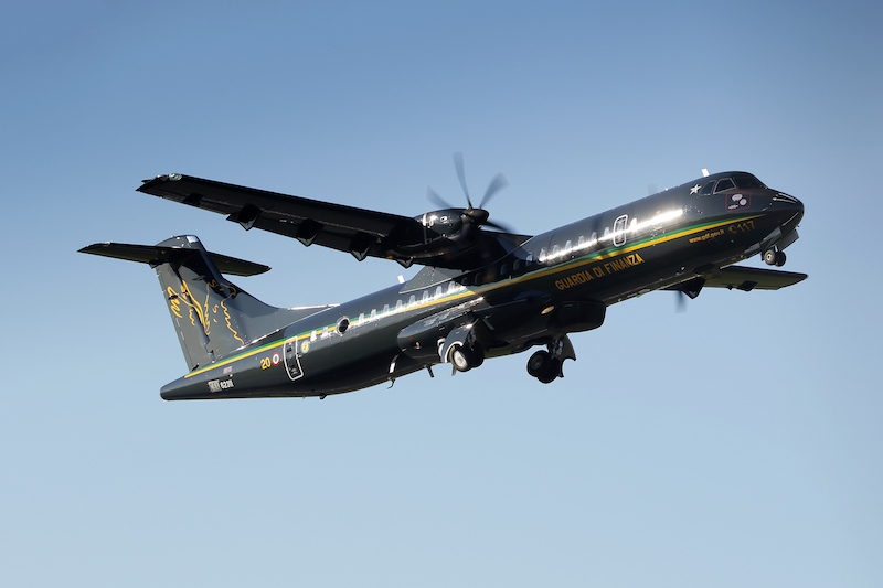 Italy's customs and finance police, the Guardia di Finanza, has taken delivery of two of the four ATR-72B maritime patrol aircraft it has ordered; they will be used for maritime patrol and SAR missions.