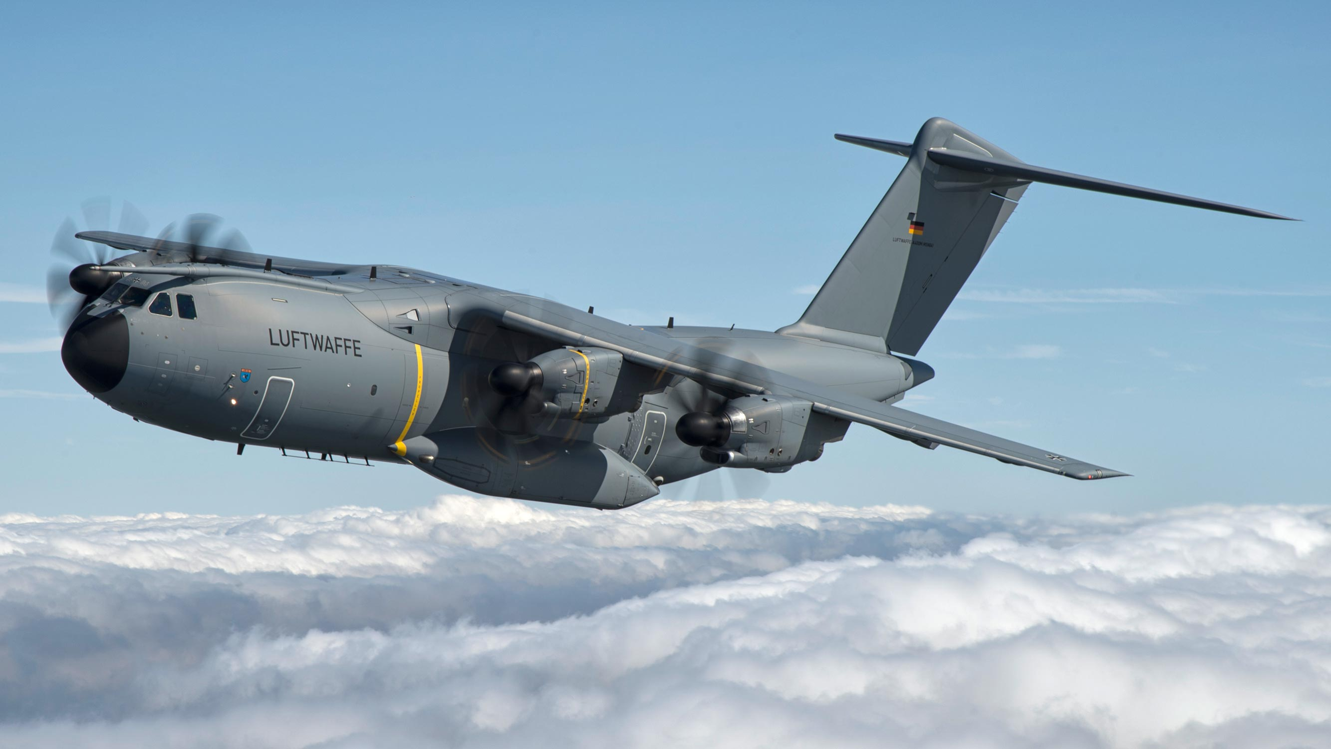 Germany's Luftwaffe Airbus A400M transport aircraft
