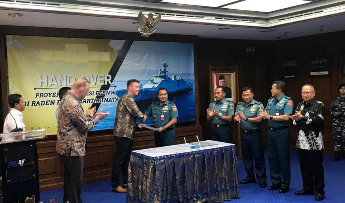 Damen completes combat systems installation and trials on Indonesian guided missile frigate