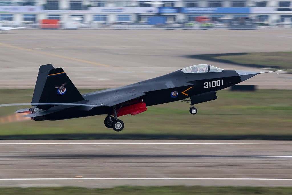 Shenyang J-31 (F60) stealth multirole fighter at the 2014 Zhuhai Air Show