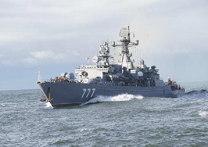 Russian Baltic Fleet Neustrashimyy-class frigate Yaroslav Mudry
