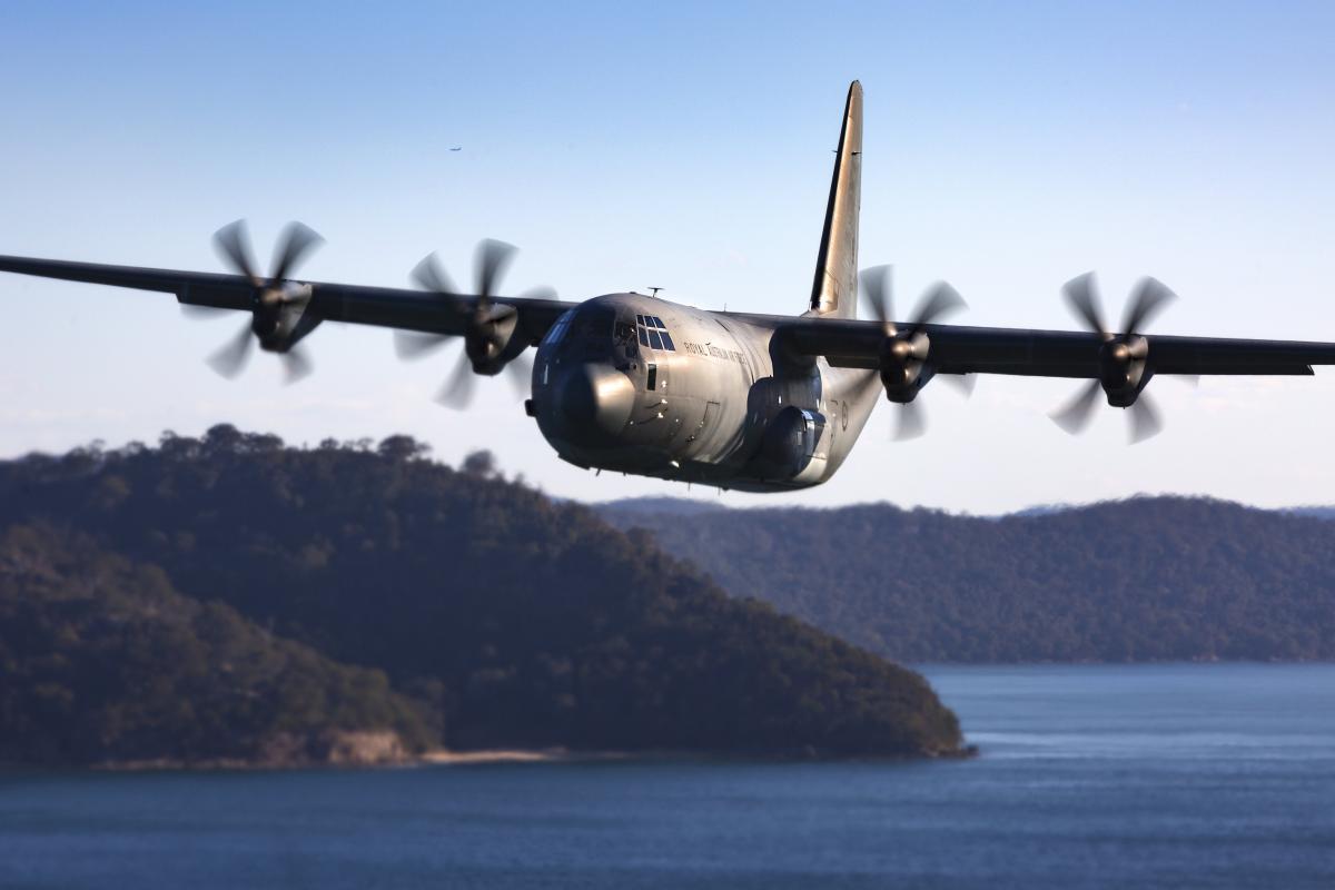 Royal Australian Air Force C-130J Hercules medium-sized tactical air-lifter